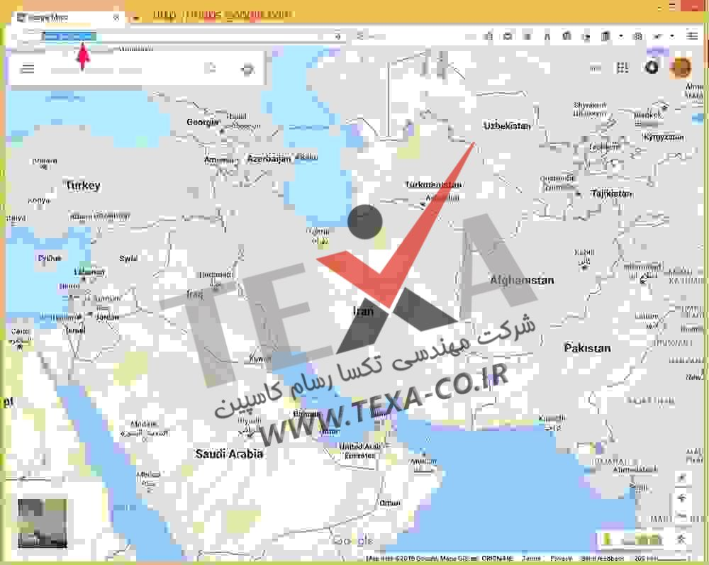 استخراج موقعیت طول و عرض جغرافیایی