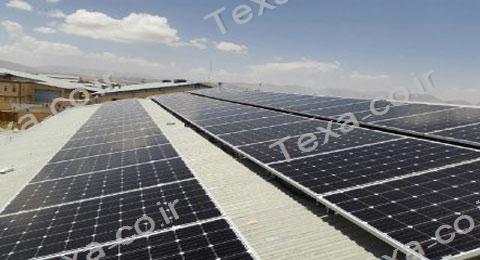 نصب استراکچر خورشیدی تکسا روی سقف شیروانی (2)