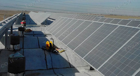 نصب استراکچر خورشیدی بازودار تکسا (5)