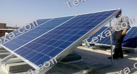 نصب استراکچر خورشیدی تکسا روی بام منزل (1)