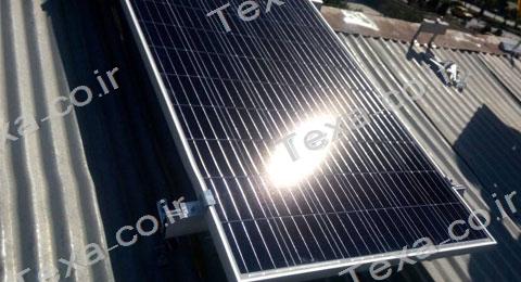 نصب استراکچر خورشیدی سقفی تکسا-قم (4)