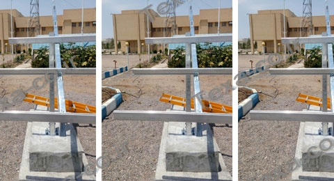 استراکچر خورشیدی سه ردیفه بازودار تکسا (1)