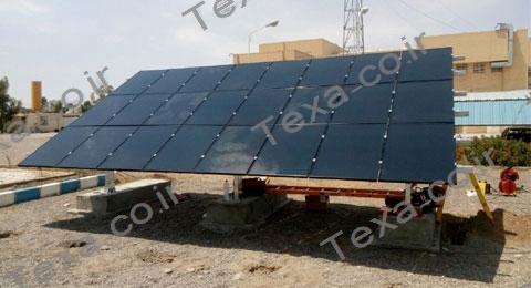 استراکچر خورشیدی سه ردیفه بازودار تکسا