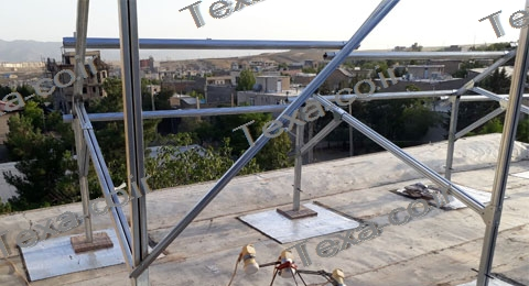 استراکچر خورشیدی دو ردیفه عمودی-تکسا (1)