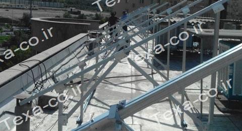 سازه خورشیدی دو ردیفه عمودی تکسا (4)