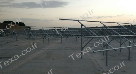 نصب استراکچر خورشیدی دو ردیفه عمودی تکسا (13)