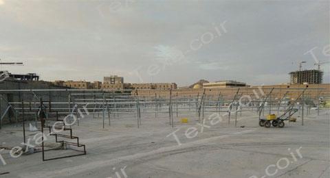 نصب استراکچر خورشیدی دو ردیفه عمودی تکسا (3)
