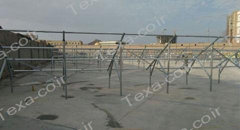 نصب استراکچر خورشیدی دو ردیفه عمودی تکسا (4)