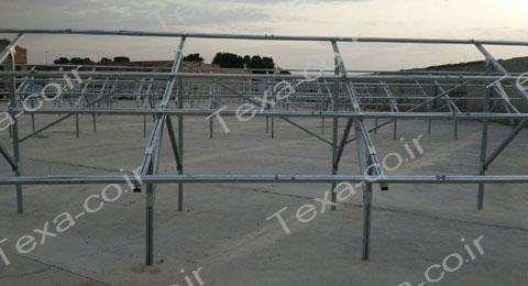 نصب استراکچر خورشیدی دو ردیفه عمودی تکسا (7)