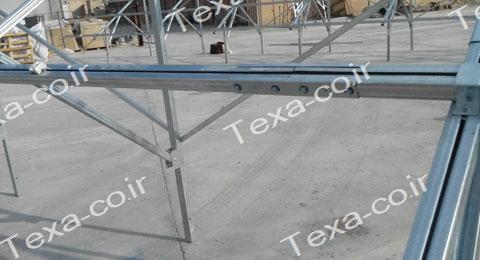 نصب استراکچر خورشیدی دو ردیفه عمودی تکسا(11)