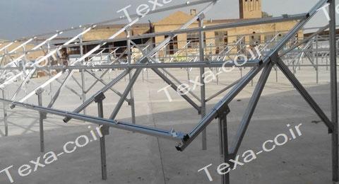 نصب استراکچر خورشیدی دو ردیفه عمودی تکسا(12)