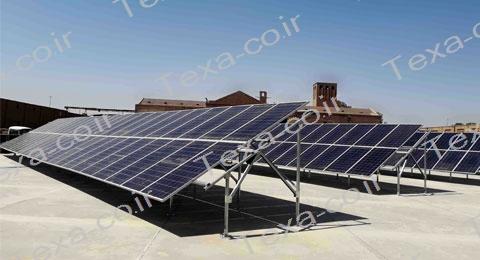 نصب استراکچر خورشیدی دو ردیفه عمودی تکسا(15)