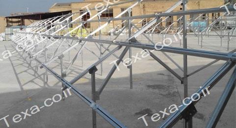 نصب استراکچر خورشیدی دو ردیفه عمودی تکسا(9)