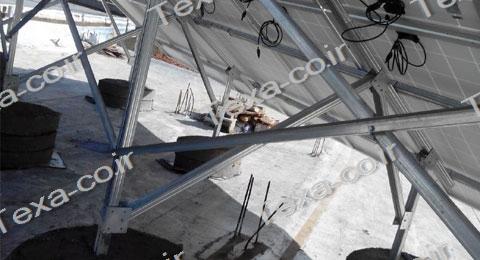 استراکچر خورشیدی دو ردیفه-نیروگاه خورشیدی-تکسا