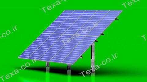 استراکچر خورشیدی بازودار دو ردیفه عمودی تکسا (1)