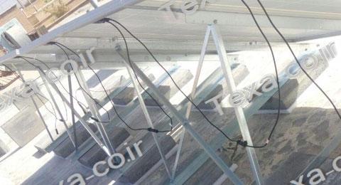 نصب استراکچر خورشیدی تکسا روی بام منزل (2)