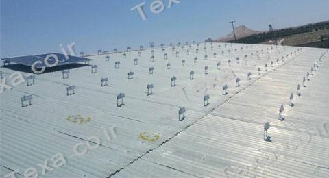 نصب استراکچر خورشیدی سقفی تکسا-قم (1)