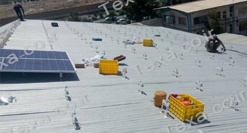 نصب استراکچر خورشیدی سقفی تکسا-قم (2)