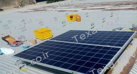 نصب استراکچر خورشیدی سقفی تکسا-قم (3)
