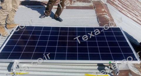 نصب استراکچر خورشیدی سقفی تکسا-قم (5)