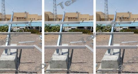 استراکچر خورشیدی سه ردیفه بازودار تکسا (4)