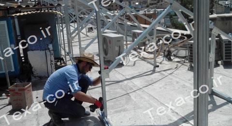 سازه خورشیدی دو ردیفه عمودی تکسا (1)