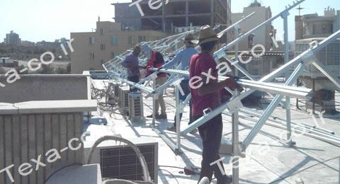 سازه خورشیدی دو ردیفه عمودی تکسا (5)