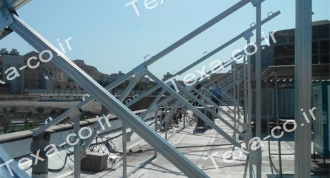 سازه خورشیدی دو ردیفه عمودی تکسا (6)