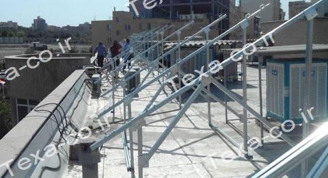 سازه خورشیدی دو ردیفه عمودی تکسا (7)
