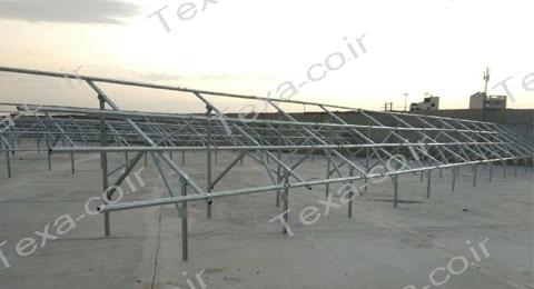 نصب استراکچر خورشیدی دو ردیفه عمودی تکسا (5)