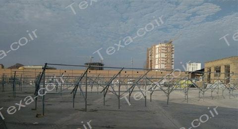 نصب استراکچر خورشیدی دو ردیفه عمودی تکسا (6)