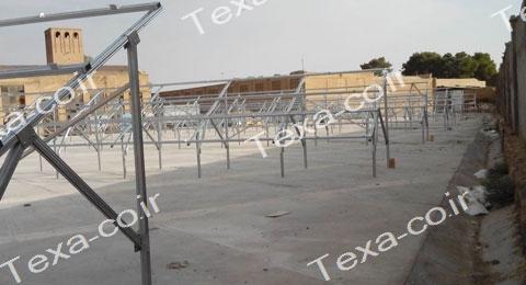 نصب استراکچر خورشیدی دو ردیفه عمودی تکسا (8)