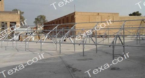 نصب استراکچر خورشیدی دو ردیفه عمودی تکسا(10)