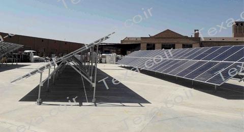 نصب استراکچر خورشیدی دو ردیفه عمودی تکسا(14)