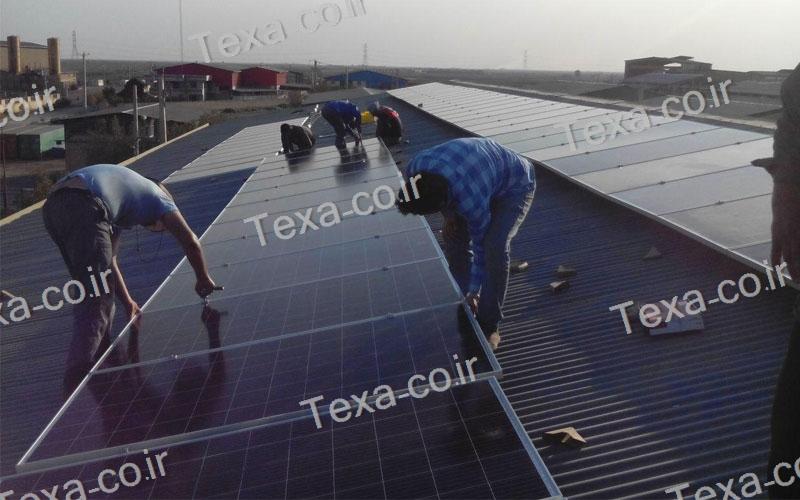 طراحی و ساخت استراکچر خورشیدی (10)