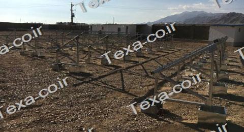 استراکچر خورشیدی-نصب استراکچر خورشیدی تک ردیفه عمودی تکسا