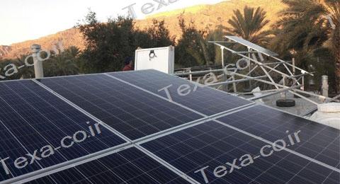 سازه خورشیدی V2 (1)-استراکچر خورشیدی دو ردیفه عمودی-تکسا
