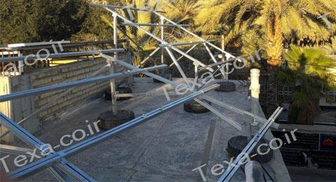 سازه خورشیدی V2 (3)-استراکچر خورشیدی دو ردیفه عمودی-تکسا