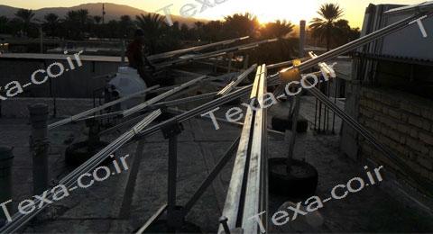 سازه خورشیدی V2 (5)-استراکچر خورشیدی دو ردیفه عمودی-تکسا