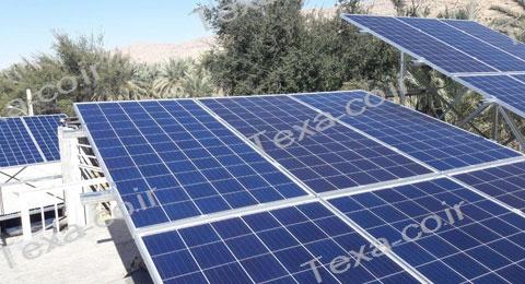 سازه خورشیدی V2 (7)-استراکچر خورشیدی دو ردیفه عمودی-تکسا