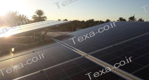 سازه خورشیدی V2 (8)-استراکچر خورشیدی دو ردیفه عمودی-تکسا