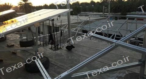 سازه خورشیدی V2 (9)-استراکچر خورشیدی دو ردیفه عمودی-تکسا