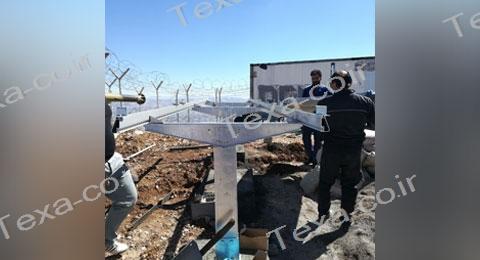 سازه خورشیدی با قابلیت تغییر زاویه-تکسا (2)-استراکچر خورشیدی بازودار