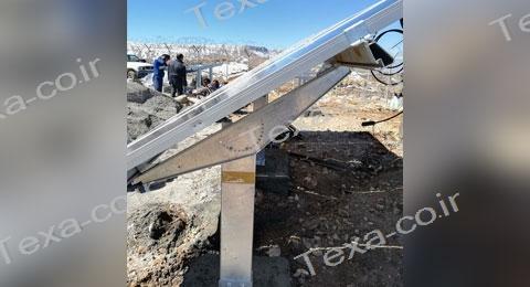 سازه خورشیدی با قابلیت تغییر زاویه-تکسا (5)-استراکچر خورشیدی بازودار