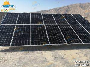 نصب استراکچر خورشیدی تک ردیفه تکسا در شهر تهران
